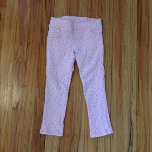 Pink and Silver dots Jeggings